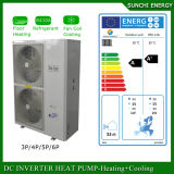 Bobina elevada do medidor 12kw/19kw/35kw do aquecimento de assoalho 100~300sq da casa do inverno da tecnologia -25c de Evi como o trabalho das bombas de calor Auto-Degela