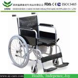 Commode-Rollstuhl, faltender Commode-Rollstuhl, stützender Commode-Rollstuhl