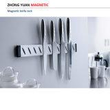 Crémaillère magnétique de couteau de mur de cuisine en plastique colorée de double