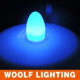 Luz ao ar livre do ovo do diodo emissor de luz da lâmpada da forma do ovo do diodo emissor de luz