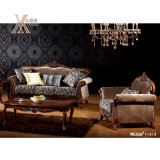 Antikes Gewebe-Sofa mit geschnitztem Muster (NCS28)