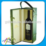 Caixa de armazenamento original do vinho do Leatherette de Brown