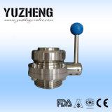 Клапан-бабочка Yuzheng санитарная 3 части конструкции