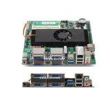 AMD R-268d Dual cartão-matriz industrial do Mini-Itx da visualização óptica do processador central 4DVI 4 do núcleo com 4COM