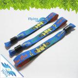 Braceletes tecidos impressão do Wristband do poliéster do logotipo do OEM