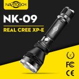 Original nous torche rechargeable en aluminium du CREE DEL DEL (NK-09)