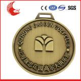 Nuevo medalla plateada del estilo metal por encargo con la cinta