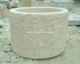 자연적인 Granite Stone Flowers 또는 정원 Home Decoration를 위한 Plant Pot