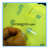 A etiqueta transparente da etiqueta adesiva pode ser personalizada
