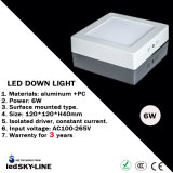 세륨 & RoHS Certification를 가진 6W Square LED Down Light Surface Mounted