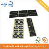 주문을 받아서 만들어 인쇄 종이 PVC 자동 접착 스티커 (QYCI002)