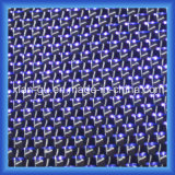 210g 3k aclaran telas de la fibra del carbón de la cuerda de rosca de la plata del alambre del zafiro