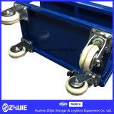 Het blauwe Dubbele Karretje van het Platform van de Laag Standaard