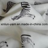 Tela Chiffon del poliester para la bufanda/la ropa de la alineada