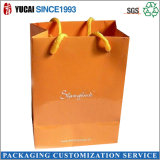 Bolsa de papel de color naranja Bolsa de la compra para las señoras