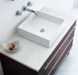 Good Quality S1001-010를 가진 대리석 Top Square Sink