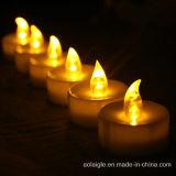 Batterie schließen flammenlose gelbe flackernde Kerzen LED-Tealight ein
