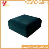 Doos van de Oorring van het Fluweel van de douane de Groene voor Pakket (yb-vb-003)