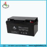 12V 65ah wartungsfreie gedichtete saure VRLA Solarbatterie des Leitungskabel-
