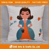 カスタムFashion Jacquard Soft Fabric CushionかFairy Tale Character