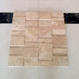 Morden 디자인 3D 벽과 지면 도와를 위한 베이지색 석회화 모자이크