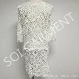 夏(DR-79)の女性綿のレースのかぎ針編みの服