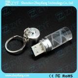 De Stok van het Kristal USB van de Vorm van de Cilinder van de manier (ZYF1505)