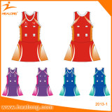 Healong Professional Custom Any Color Logo Netball Skirt Dresses Jerseys
