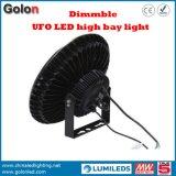 방수 130lm/W 센서 Dimmable 240W 200W 100W 150W LED 높은 만 빛을 점화하는 산업 UFO Highbay 램프