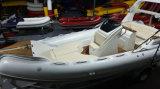 barco de lujo certificado CE de 22.3feet Rib680b, barco de pesca, barco de Rowing con el PVC de la alta calidad o telas de Hypalon