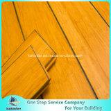 Chinesischer preiswertester Qualitäts-Innenverbrauch karbonisierter Strang gesponnener Bambusbodenbelag mit blauen Rändern