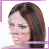 130% Densidad Glueless brasileño humano de la Virgen del cordón pelucas de pelo