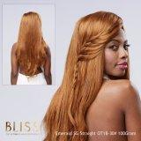 Pelo humano de la Virgen del pelo de la dicha del pelo del color recto brasileño de Brown
