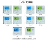 Étape multi (la chaleur/se refroidissent) thermostat neuf programmable frais de 2 de la chaleur 2 5/1/1 Digitals de climatiseur
