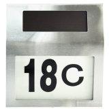 Luz del número de la puerta del panel solar LED del acero inoxidable (RS314B)