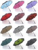 De nieuwe Dubbele Paraplu van de Hand van de Tribune van de Dekking Omgekeerde Vrije Omgekeerde
