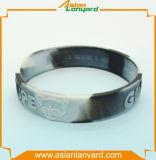 Wristband di gomma del silicone di disegno del cliente