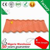 Feuille colorée de toiture de tuiles de toiture de Lighweight pour la villa au Nigéria