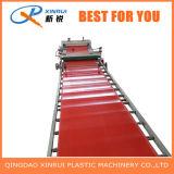Fábrica de linha de produção plástica da extrusora do tapete do PVC