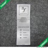 Etiquetas de cuidado lisas impressas venda por atacado do cetim para o vestuário