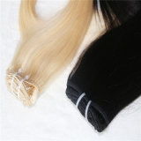 Clip dei capelli umani di Remy dei Peruvian di 100% nell'estensione dei capelli