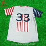 Baseball su ordinazione Unifroms delle camice di softball del pullover di baseball del Mens di sublimazione