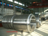 Luva forjada do cilindro que cobre o forjamento oco da câmara de ar da barra