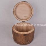 Contenitore di legno ecologico di sigaretta dell'annata alla moda di disegno