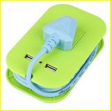 Zoccolo multifunzionale portatile verde di estensione del USB di modo piccolo