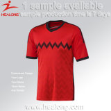 O poliéster 100% personalizou qualquer jogo da camisa do futebol de Jersey do futebol do logotipo