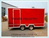 완전히 최신 담궈진 직류 전기를 통한 이동할 수 있는 음식 트럭 트레일러 밴