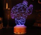 3 Sprekers Bluetooth van de Lamp van de Gift Bluetooth van D de Nieuwe Draadloze Stereo Creatieve Draadloze