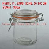 Frasco de vidro pintado 125ml do alimento do frasco do armazenamento frasco de vidro de vidro