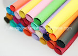 Papier chaud de travail manuel de papier de couleur de pâte de bois de la vente 100%